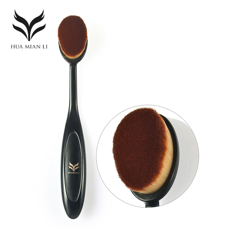 HUAMINALI 1pcs Toothbrush Foundation Makeup Brush Cosmetic Face Powder Brush Toothbrush  ...