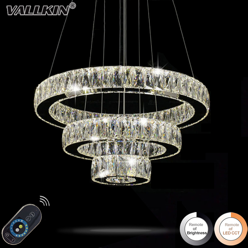Home Decorative Lighting LED Crystal Pendant Lamp Dimmable Indoor Lamps Chandeliers Modern Lighting Fixtures with Remote Control dimmable pendant lights led crystal lighting hanging lamps indoor home light with remote control for hallway indoor home deco