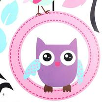 2017  Hot Sale Lovely Owls On the Swing Beautiful Colourful Tree Wall Stickers Removable Vinyl Decal Art for Girls Children Room