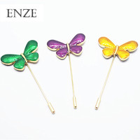 Free shipping ladies zinc alloy jewelry Color enamel drop glaze butterfly word shape brooch fashion retro accessories sets
