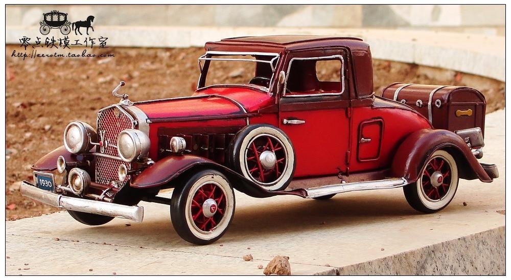 1930 V16 Car Model handmade antique vintage metal craft Creative crafts ornaments retro home accessories living room