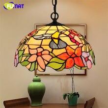 Витражный подвесной светильник fumat светодиодная лампа Тиффани