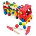 2017 nova 30 cm bebê diy trem de madeira brinquedo caminhão arrastando crianças crianças educacional blocos conjunto de brinquedos diecasts veículos zs058