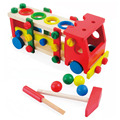 2017 nueva 30 cm bebé diy tren funde arrastrando camión de juguete niños de los niños educativos de madera juguetes de bloques de vehículos conjunto zs058