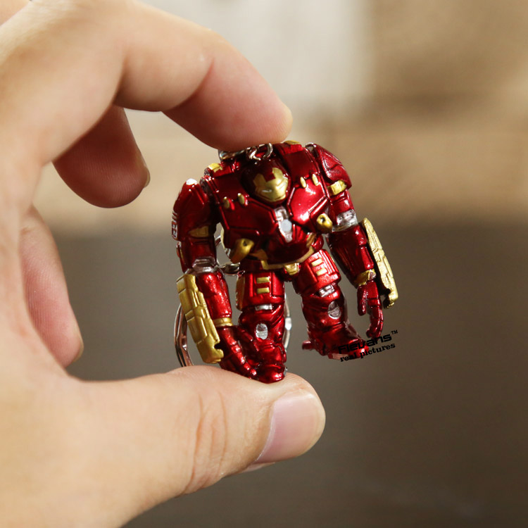 Iron Man Hulkbuster MK33 Mini PVC Action Figure Keychain Toys Dolls 4cm 10pcs/lot ANPD2098