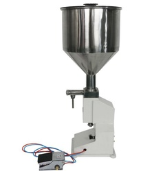 Pneumatic sauce liquid filler, paste and cream filling machine 5-50ml