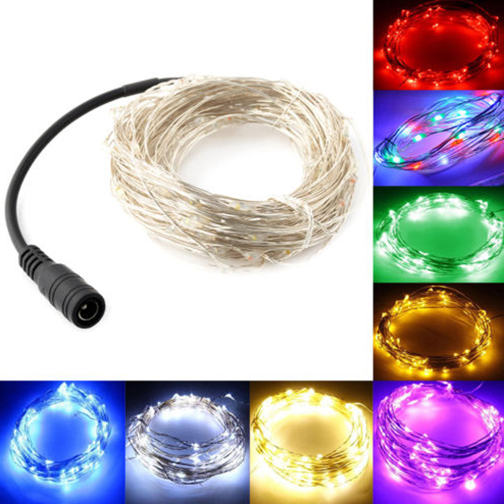 12 Volt Christmas Lights Outdoor Part - 25: Christmas Lights Outdoor 10M Waterproof 100 LED Christmas/Wedding/Party  Decoration LED Copper Wire
