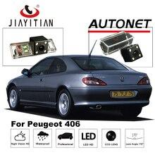 JIAYITIAN Câmara de Visão Traseira Para Peugeot 406 2001-2008 CCD/Câmera de Estacionamento de Backup/4 LEDS/Noite visão/câmera Placa De Licença