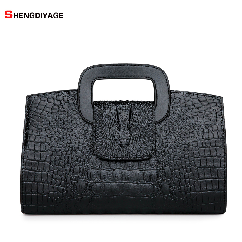 New Spring Luxury Handbags Women Bags Designer Solid Alligator Hand Bag Famous Brand Fashion Tote Shoulder Bag Bolsos Mujer sac bolsos 2016 women nubuck leather designer handbags high quality famous brand shoulder bag sac a main bolsos mujer hand bags tote