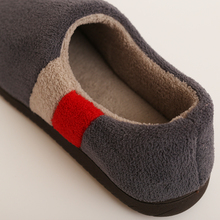 Brand Winter Home Cotton Home Floor Slippers Shoes Men Large Size 48 Non-slip Indoor Plush Cover Heel Warm Men's Shoes 2018