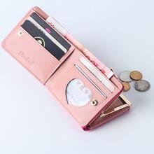 Mini Leather Clutch Card Holder