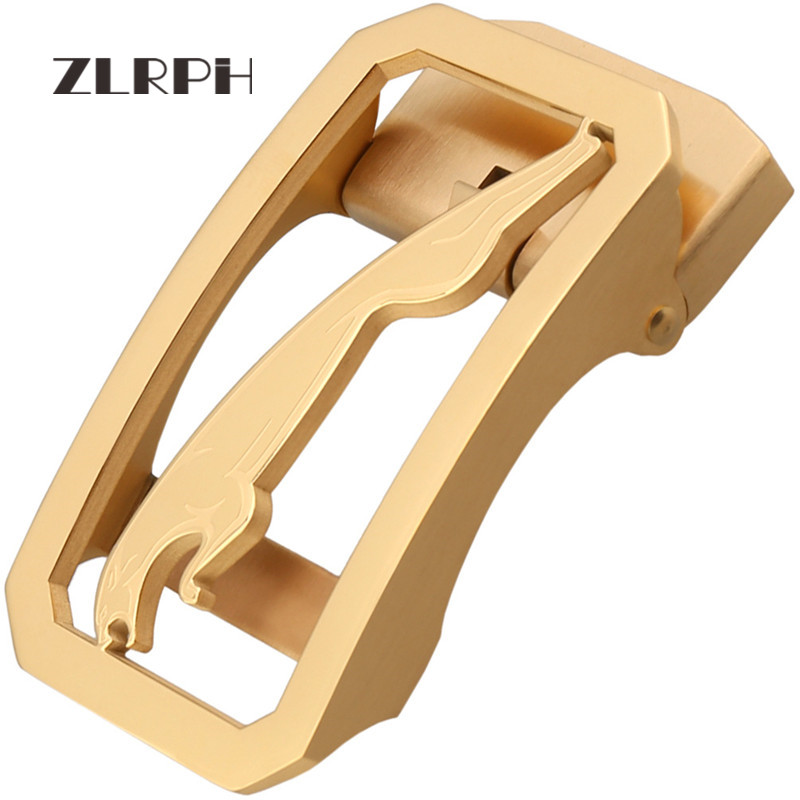 ZLRPH High Quality Stainless Steel Leather Led Automatic Buckle Men Auto Buckle Accessories