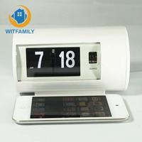 Retro Table Clock Auto Flip Clock Desk Clock Flip Page 12 Hours AM/ PM Format Display Timepiece Turning Clocks