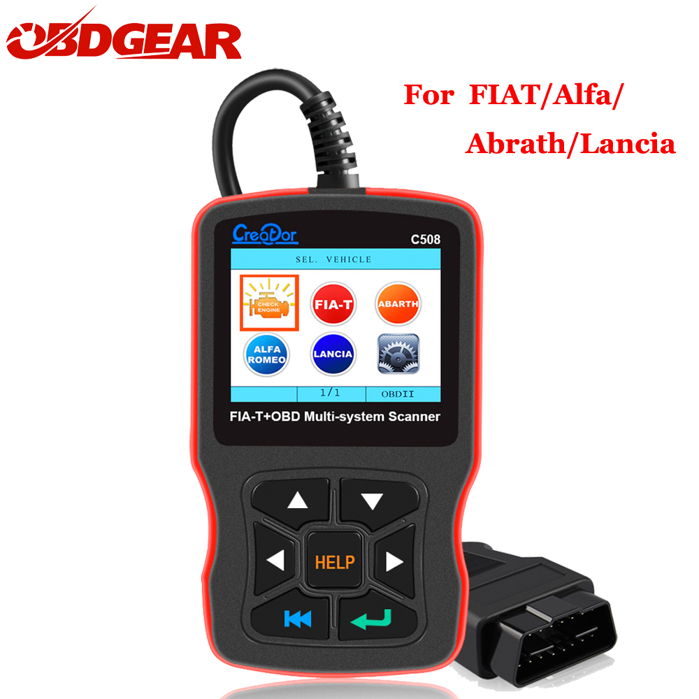 Creator C508 OBDII/EOBD Scanner Airbag/ABS Diagnostic Car New OBD 2 Auto Multi System Scanner Tool for FIAT/Alfa/Abrath/Lancia