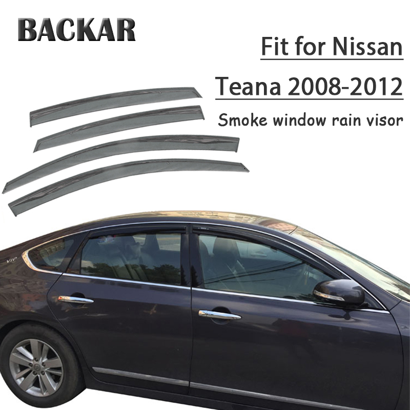 Backar 4pcs Auto Car Windows Rain Wind Sun Shield Deflector Visor Trim For Nissan Teana J32 2008 2009 2010 2011 2012 Accessories image