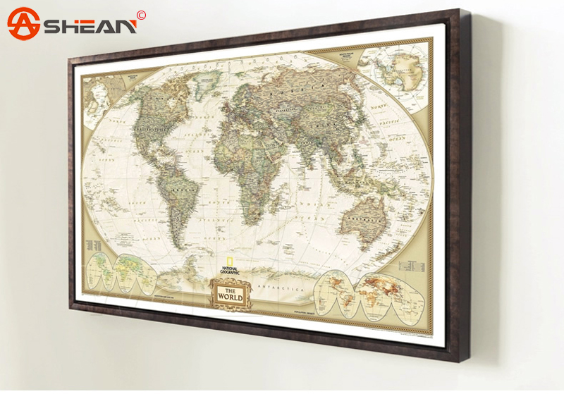 2017 NEW Large Vintage World Map Detailed Antique Poster Wall Chart ...