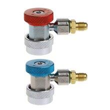 2Pcs Car Auto Freon R134A H/L Quick Coupler Adapters Air Conditioning Refrigerant Adjustable A/C manifold gauge set QC-ML