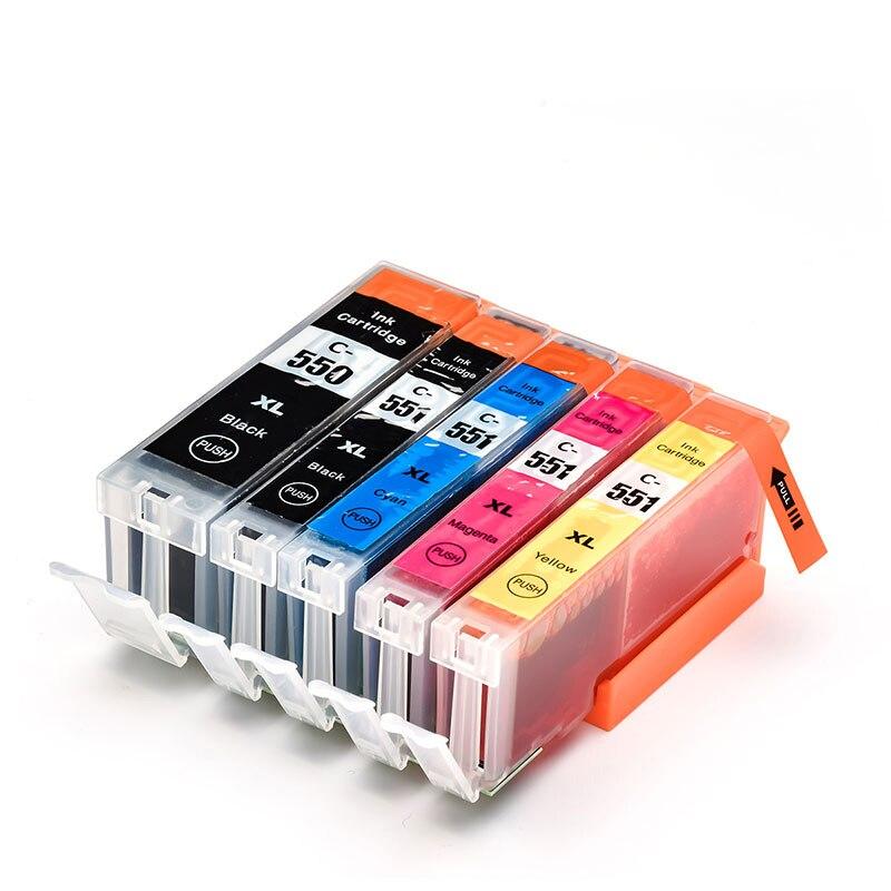 5PK pgi550 pgi-550 cli-551 cartouche d'encre pour canon PGI550 CLI551 PIXMA IP7250 MG5450 MX925 MG5550 MG6450 MG5650 MG6650 MX725