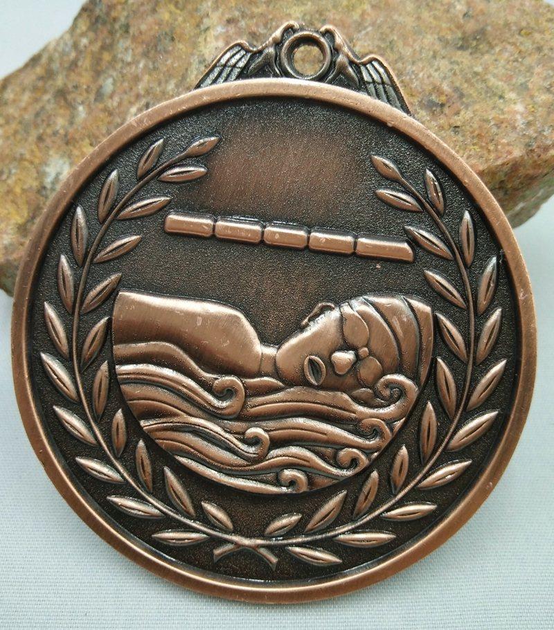 Schwimmen bronze