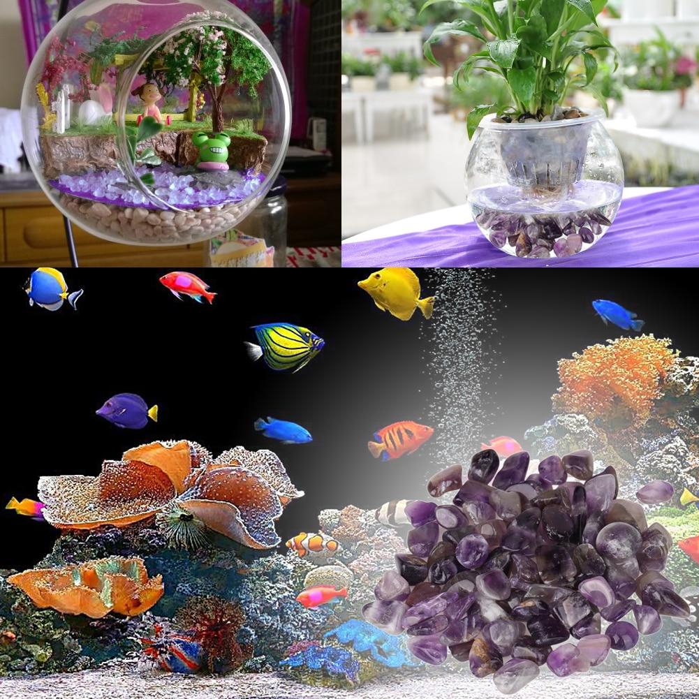 Aquarium fish tank decorations - 100g Natural Rough Specimen Amethyst Point Quartz Crystal Feifanstyle Natural Stones Minerals Diy Bracelet Fish