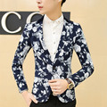 Men Floral Blazer Suit Large Size M-6XL SLim Fit Business Suit Jacket Brand Fashion Casual Formal Cotton Suit Blazer F1009