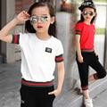 3-12 Años de Los Niños del Verano Ropa Set Girls/Boy HIGH FIVE Corta Camiseta + pantalones de Ocio Para Niños trajes