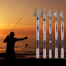 1.8/ 2.1/2.4/2.7/3.0m Outdoor Adjustable Fishing Rod Carbon Fiber Surf Casting Spinning Pole Stick Carp Elasticity Strong