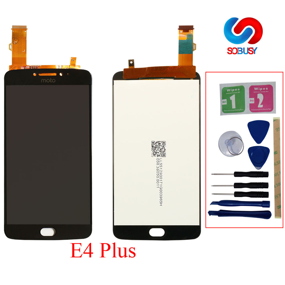 LCD Pantalla For Motorola <font><b>Moto</b></font> <font><b>E4</b></font> <font><b>Plus</b></font> <font><b>XT1770</b></font> XT1773 XT1771 XT1772 LCD <font><b>Display</b></font> Touch Screen Digitizer Assembly Replacement Parts image