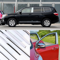 A Set  Window Pillars Window Sill Molding Trim Exactly Fitted For Toyota Highlander 2009-2014