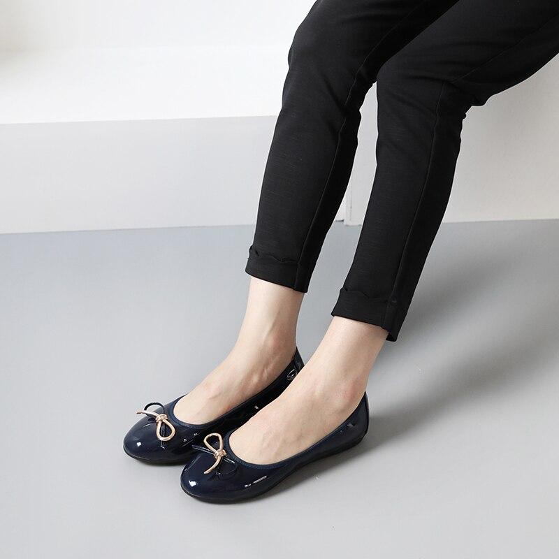 Arc on Chaussures vin Taille noir Beige Femmes 9 noeud 5 K Printemps Slip Appartements bleu Marine Noir Bout nous Nous Ballerines Rond 302 Dames Rouge 1qXErwxX