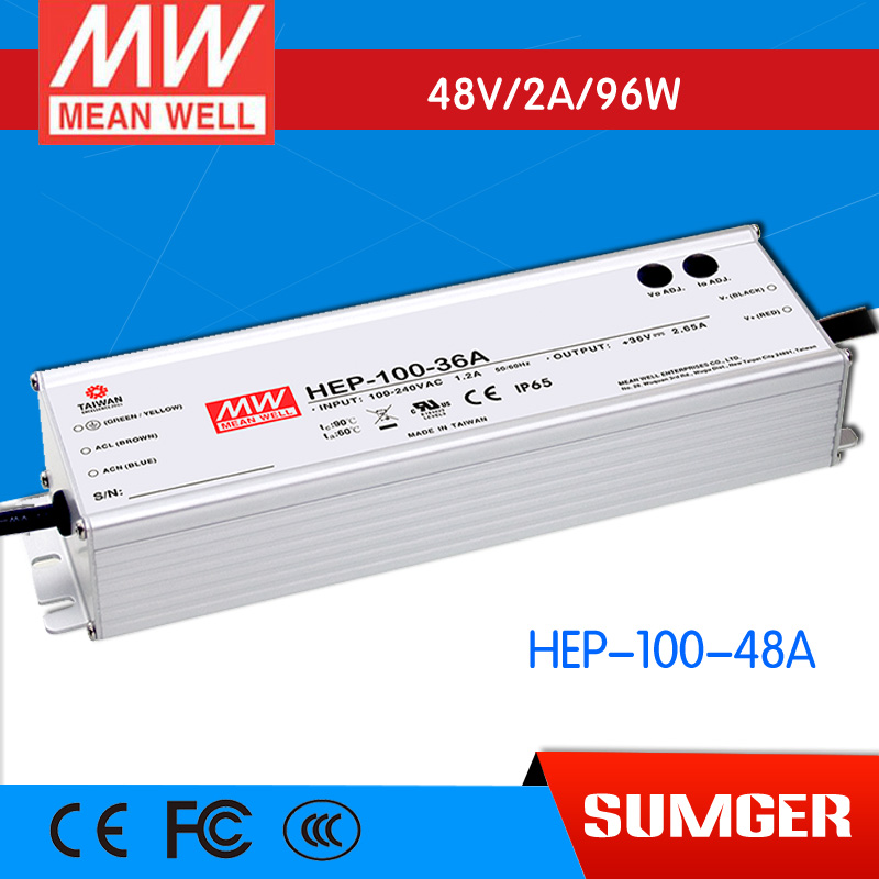 все цены на 1MEAN WELL original HEP-100-48A 48V 2A meanwell HEP-100 48V 96W Single Output Switching Power Supply онлайн