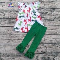 Aicton卸売子供コットンブティックキッズクリスマス衣装トナカイ新年ベビー服セット