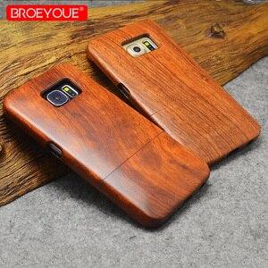 Image 3 - 삼성 갤럭시 s6 s7 s8 s9 가장자리 플러스 100% 레트로 자연 대나무 케이스에 대 한 전체 나무 케이스 삼성 갤럭시 참고 8 9 아이폰 xr에 대 한