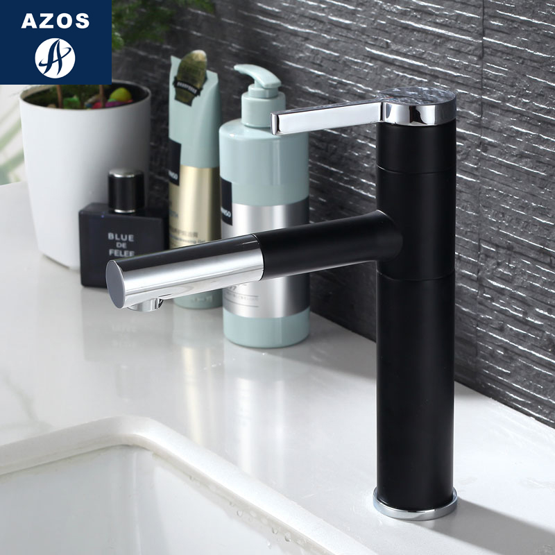 azos under counter basin faucet soft wash basin brass white cold and hot switch shower room. Black Bedroom Furniture Sets. Home Design Ideas