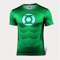 حار الأخضر فانوس t-shirt ضغط تي شيرت 2015 صيف جديد الرجال تنفس سريعة الجافة قميص رياضية الملابس s-3xl