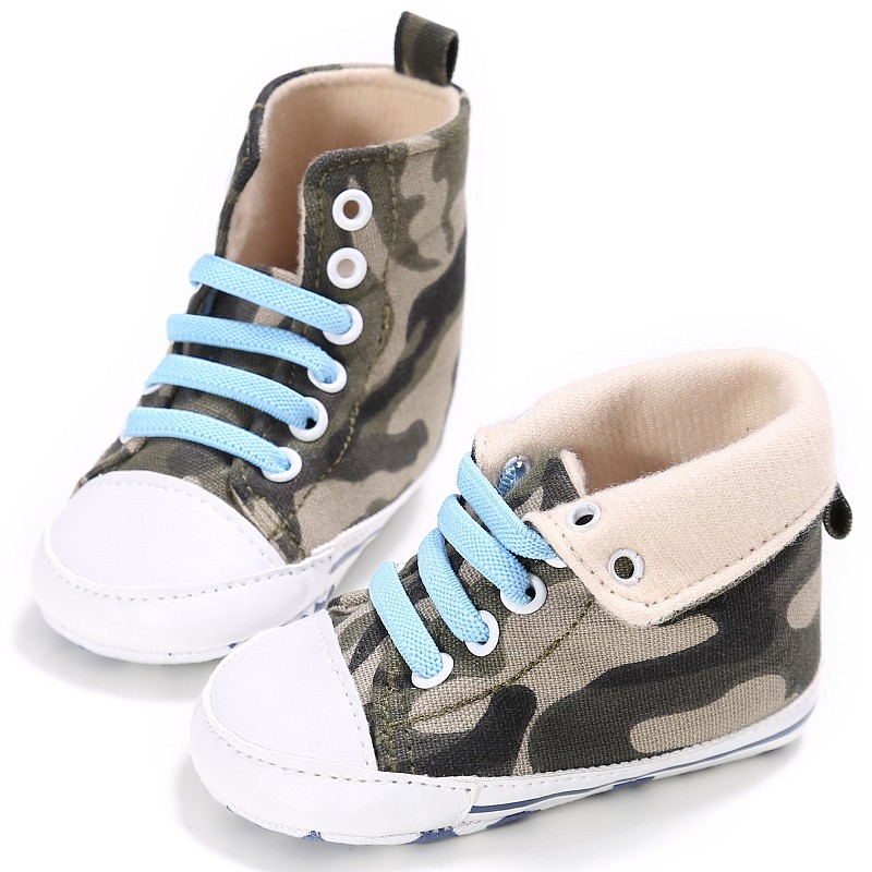 Infant Baby Boy Girl Crib Shoes Canvas Walking Sneaker Anti-Slip First Walkers 0-18M