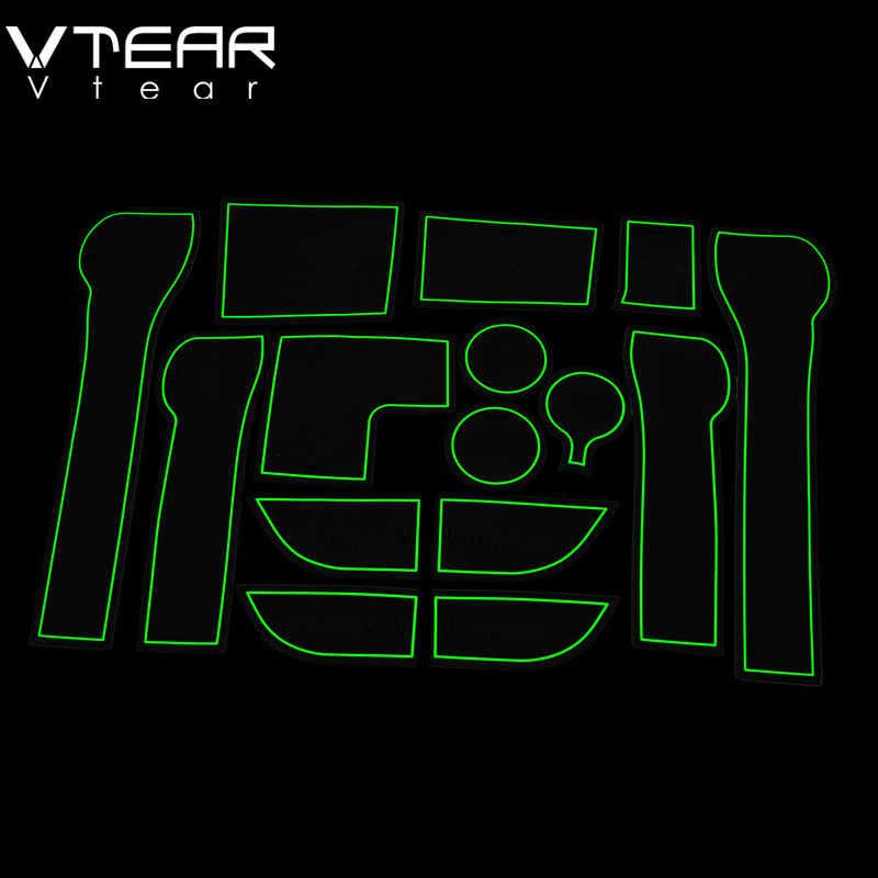 Vtear 現代の solaris 2 ゲートスロットマットアンチスリップドアゲートスロットパッド内装車のスタイリング acccessories 2017