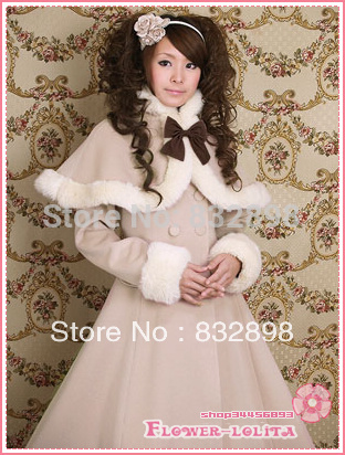 Japan Cheap Custom made Slim Wool Sweet Lolita Coat Winter Cute ...