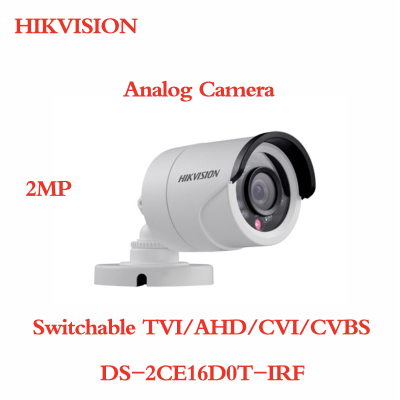 все цены на ANXIE Hikvision DS-2CE16D0T-IRF Switchable TVI AHD CVI CVBS 2MP HD 1080P IR Bullet Camera Distance IP66 weatherproof CCTV Camera онлайн
