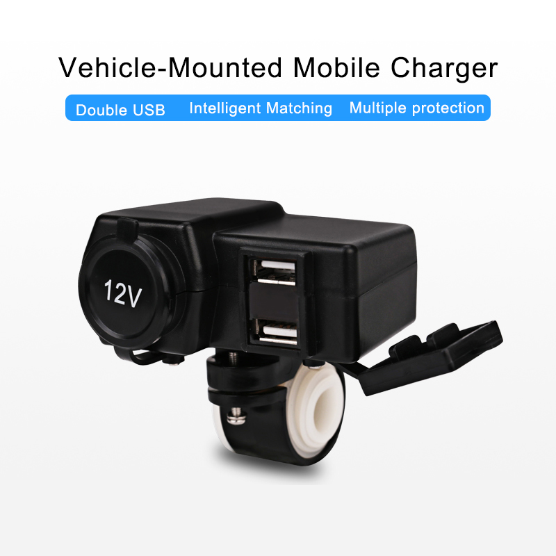 Motorlu motosiklet cüt USB şarj suya davamlı motorbike USB - Avtomobil elektronikası - Fotoqrafiya 3