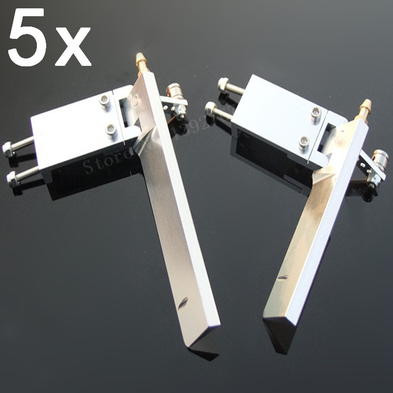 5 Pieces RC Boat Aluminium Alloy Brand New Hot Sale 75mm 95mm Metal Suction Water Rudder For Remote Control RC Boats CNC Parts aluminum alloy 160 single rudder length 90mm height 160mm with long double water pickups for 26cc boat