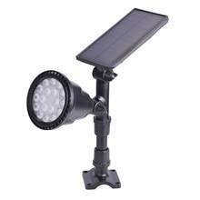 18LED outdoor Solar Lamp sensor auto Waterproof Light control Spotlight Lawn Panel Power Adjustable Flood Lamp white Garden Yard