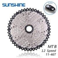 SUNSHINE 12 S 11-46 T 12 Speed Freewheel Mountainbike BMX Cassette vliegwiel Fiets Accessoires Compatibel met XX1 x01 X1 GX