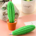 Free Shipping  1Piece Spike ball-point Pen Cactus Pen / Funny Cactus Ballpoint Pen with Plant Pot