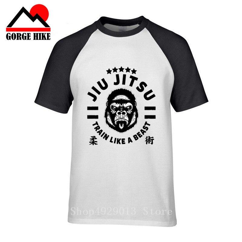 Tatami Academia BJJ T-Shirt Mens MMA Casual Jiu-Jitsu Top Navy Or White