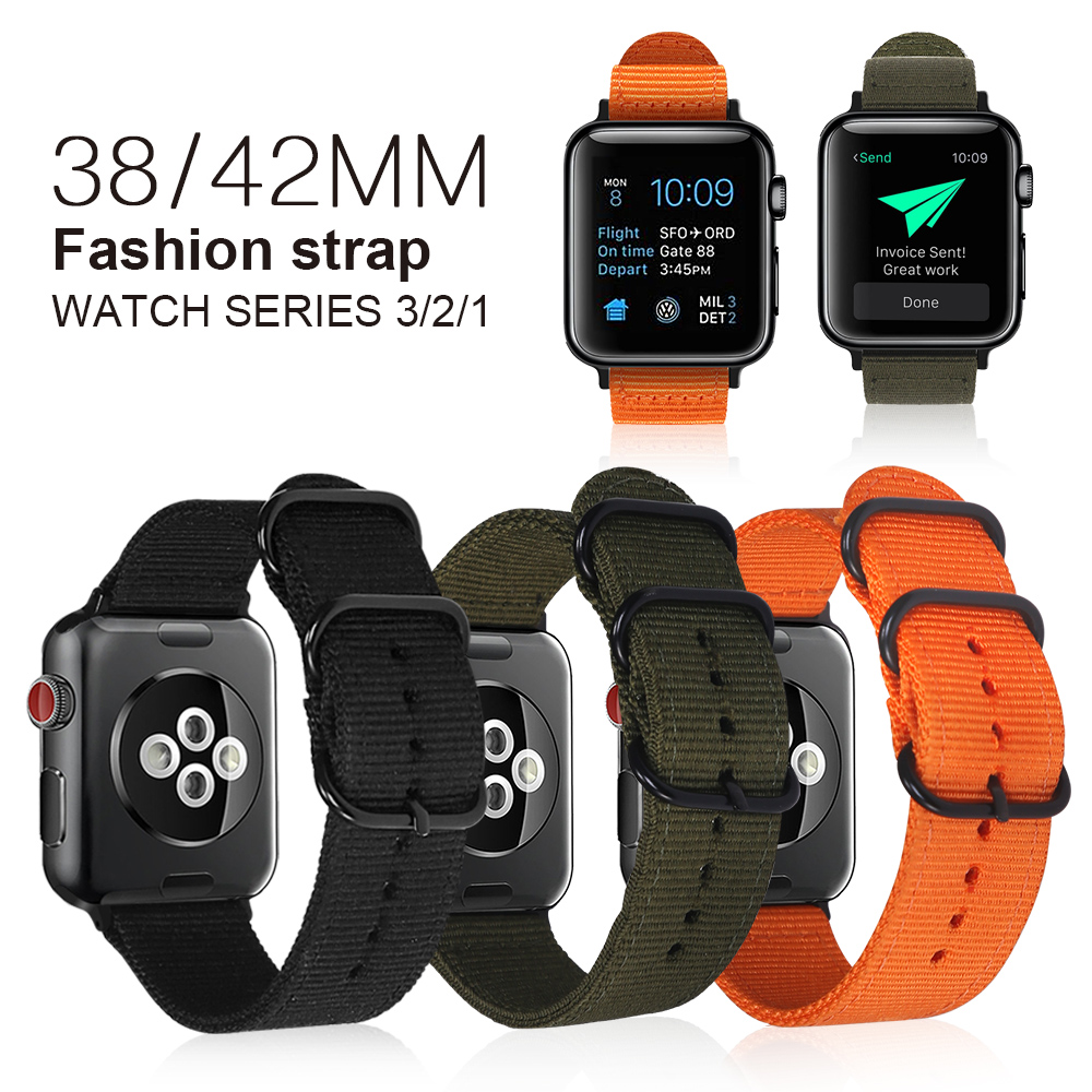 XIYUZHIYI Woven Nylon band strap for apple watch band 42mm 38 mm sport bracelet watchband for iwatch band 38mm 3/2/1 black red эврика ручка шариковая самолет цвет корпуса красный 2 шт