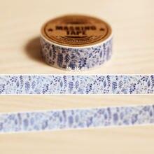 Маскировочная лента самоудерживающая бумажная «сделай сам» синяя