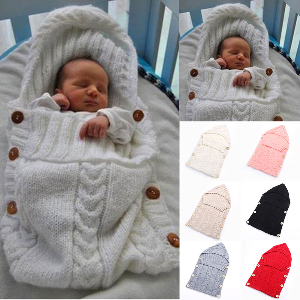 Newborn Baby Blanket Knitted Swaddle Wrap Blankets Super Soft Toddler Bedding Quilt For Infant Bed Sofa Basket Stroller Blankets zhh warm soft fleece strip blankets double layer thick plush throw on sofa bed plane plaids solid bedspreads home textile 1pc