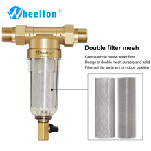 Prefilter water filter First step of water purifier system 59 brass 40micron stainless steel mesh prefiltro Freeshipping(China)