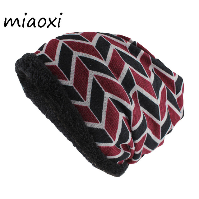 cf27e8ce355 miaoxi New Style Fashion Winter Warm Adult Women Hat Scarf Double Used  Striped Casual Beanies Skullies For Girls Beauty Gorros